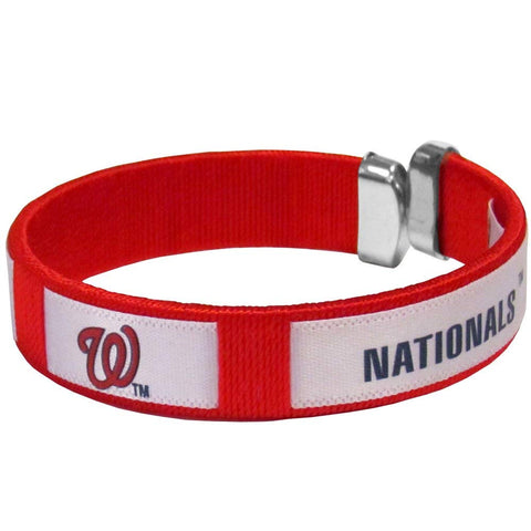 Washington Nationals Fan Band Bracelet MLB Licensed Baseball Jewelry
