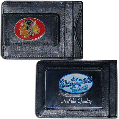 Chicago Blackhawks Fine Leather Money Clip (NHL) Card & Cash Holder