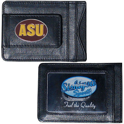 Arizona State Sun Devils Fine Leather Money Clip (NCAA) Card & Cash Holder (ASU)