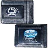 Penn State Nittany Lions Fine Leather Money Clip (NCAA) Card & Cash Holder (Oval)