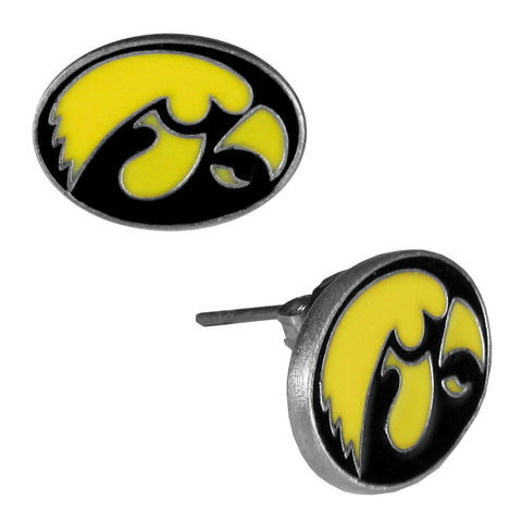Iowa Hawkeyes Stud Earrings (Hawkeye) NCAA