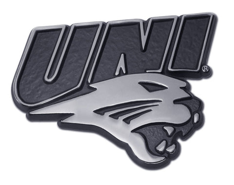 "Northern Iowa Panthers Chrome Metal Auto Emblem (""UNI"") NCAA"