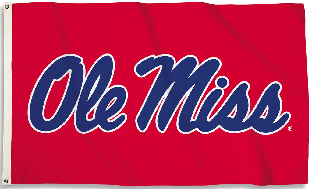 Ole Miss Rebels 3' x 5' Flag (Script Logo Only on Red) NCAA