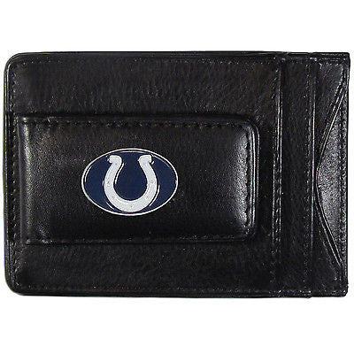 Indianapolis Colts Fine Leather Money Clip (NFL) Card & Cash Holder