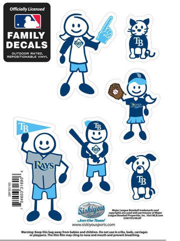 Tampa Bay Rays Outdoor Rated Vinyl Family Decals MLB Baseball