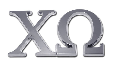 Greek Sorority Chi Omega Chrome Auto Emblem