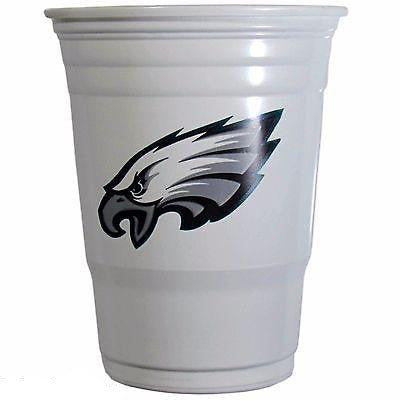 Philadelphia Eagles 24 count 18 oz Disposable Plastic Cups (White) (NFL)