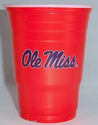 Ole Miss Rebels 18 count 18 oz Disposable Plastic Cups (NCAA)