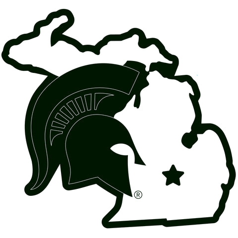 Michigan State Spartans Home State Magnet (NCAA) Michigan Shape