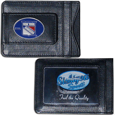 New York Rangers Fine Leather Money Clip (NHL) Card & Cash Holder