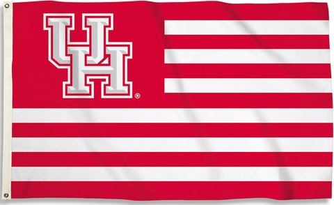 "Houston Cougars 3' x 5' Flag (Stripes With ""UH"" Logo) NCAA"