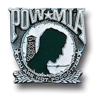 POW MIA You Are Not Forgotten Metal Lapel Pin (Collectible) Military