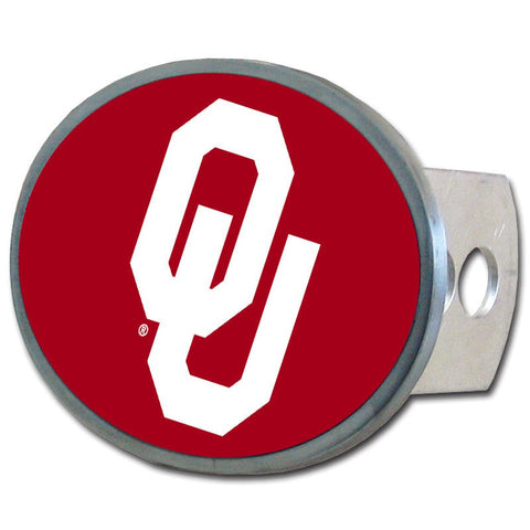 Oklahoma Sooners Metal Oval Hitch Cover (NCAA)