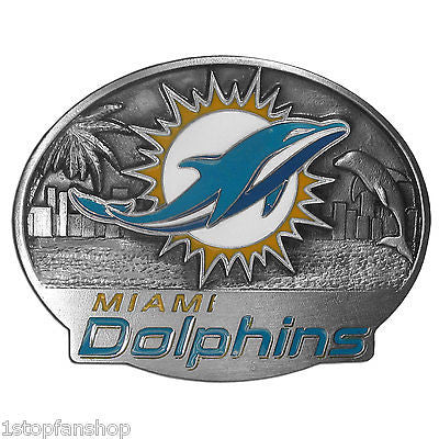 Miami Dolphins 3D Metal Team Belt Buckle (NFL) Limited Edition