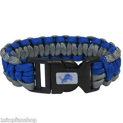 Detroit Lions Survival Paracord Bracelet with Team Logo (NFL)