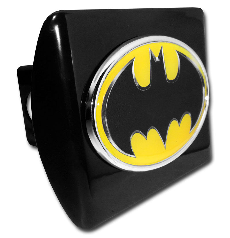 Batman Chrome Metal Black Hitch Cover (Oval w/ Color) DC Comics