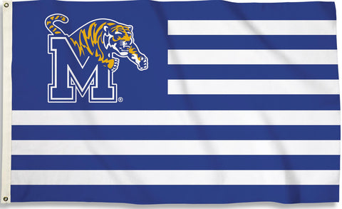 Memphis Tigers 3' x 5' Flag (Stripes With Logo) NCAA