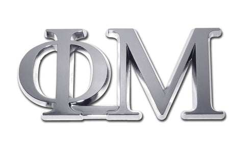 Greek Sorority Phi Mu Chrome Auto Emblem