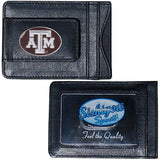 Texas A&M Aggies Fine Leather Money Clip Card & Cash Holder NCAA Licensed