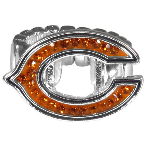 Chicago Bears Stretch Ring, Team Logo with Crystals NFL Football