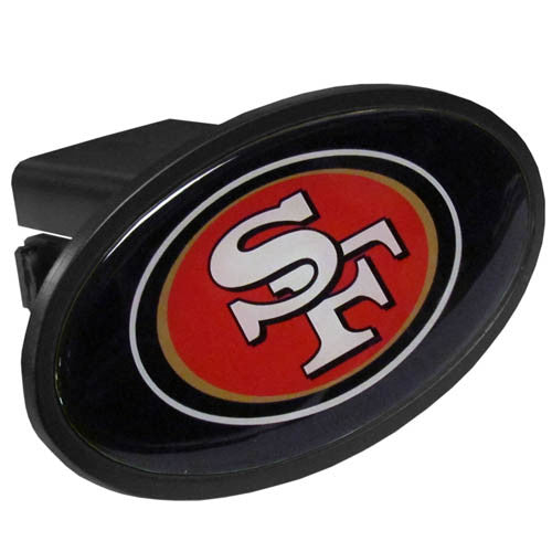 San Francisco 49ers Durable Plastic Oval Hitch Cover (NFL)