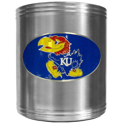 Kansas Jayhawks Insulated Stainless Steel Can Cooler Coozie (NCAA)
