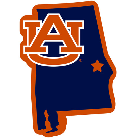 Auburn Tigers Home State Magnet (NCAA) Alabama Shape