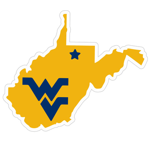 West Virginia Mountaineers Home State Magnet (NCAA) WV Shape