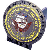 U.S. Navy 3-D Metal Hitch Cover