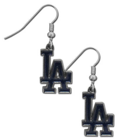Los Angeles Dodgers Dangle Earrings (Chrome) MLB Jewelry