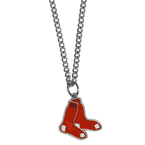 Boston Red Sox Chain Necklace Metal Logo MLB Jewelry SM