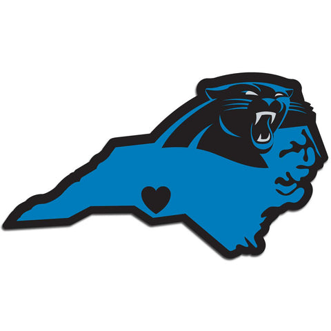 Carolina Panthers Home State Vinyl Auto Decal (NFL) North Carolina Shape