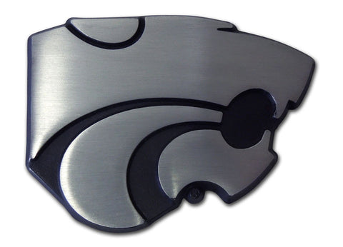 Kansas State Wildcats Chrome Auto Emblem (Matte Powercat) NCAA