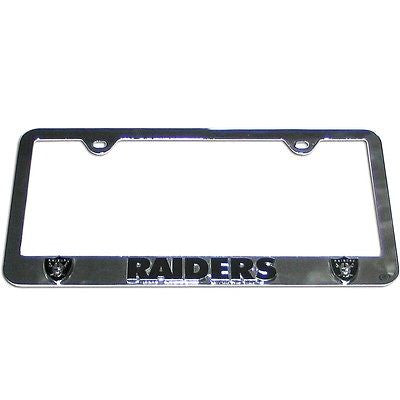 Oakland Raiders 3-D Chrome Plated Metal License Tag Frame (NFL)