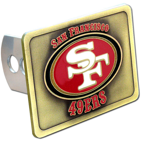 San Francisco 49ers Metal Hitch Cover (NFL) (Class II and Class III)