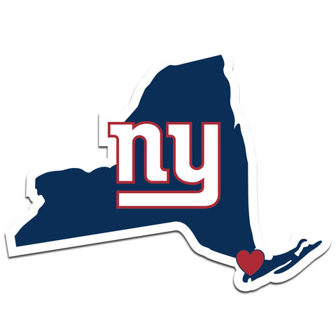 New York Giants Home State Vinyl Auto Decal (NFL) New York Shape
