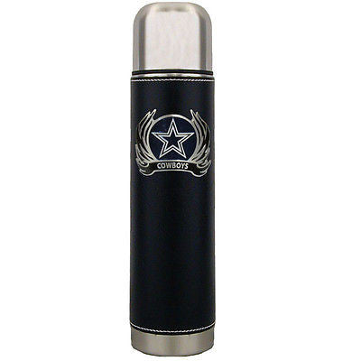 Dallas Cowboys 24 oz Insulated Thermos (Flames) (NFL)