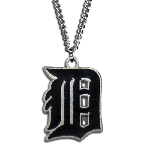 "Detroit Tigers 22"" Chain Necklace Metal Logo MLB Jewelry LG"