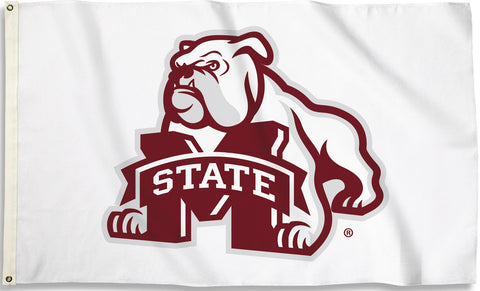 Mississippi State Bulldogs 3' x 5' Flag (Bulldog With M State) NCAA