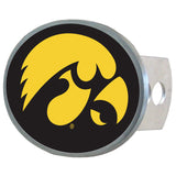 Iowa Hawkeyes Metal Oval Hitch Cover (NCAA)