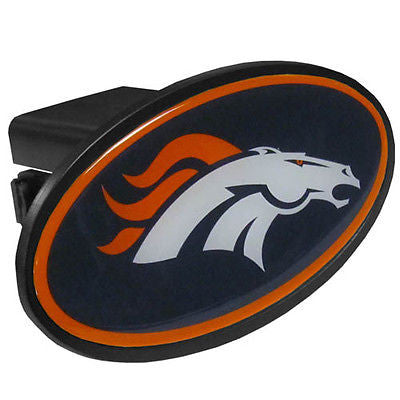Denver Broncos Durable Plastic Oval Hitch Cover (NFL)