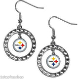 Pittsburgh Steelers Rhinestone Earrings and Necklace Jewelry Set NFL