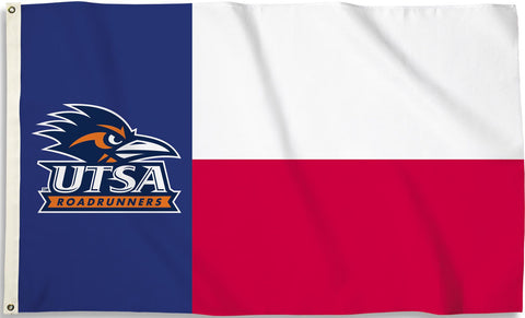 Texas San Antonio UTSA Road Runners 3' x 5' Flag (State of Texas) NCAA