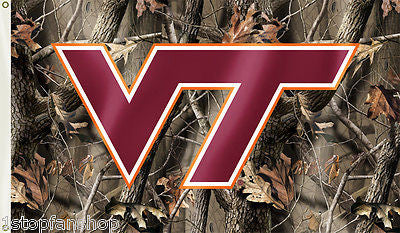 Virginia Tech Hokies 3' x 5' Flag (Realtree Camo) NCAA