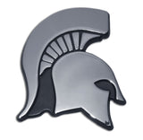 Michigan State Spartans Chrome Metal Auto Emblem (Spartan) NCAA