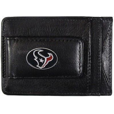 Houston Texans Fine Leather Money Clip (NFL) Card & Cash Holder