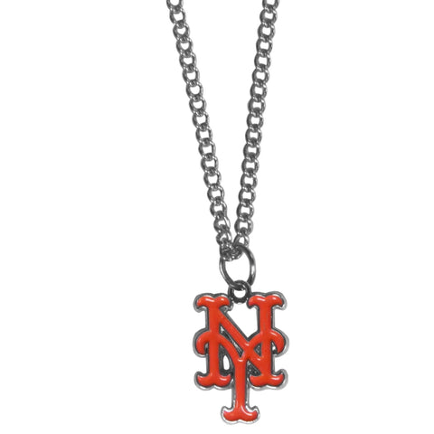 New York Mets Chain Necklace Metal Logo MLB Jewelry SM