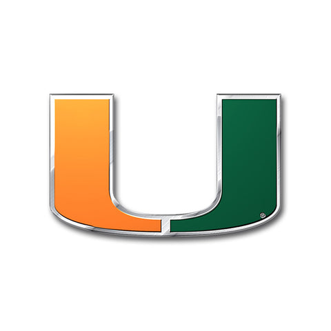 Miami Hurricanes Auto or Hard Surface Emblem Decal NCAA