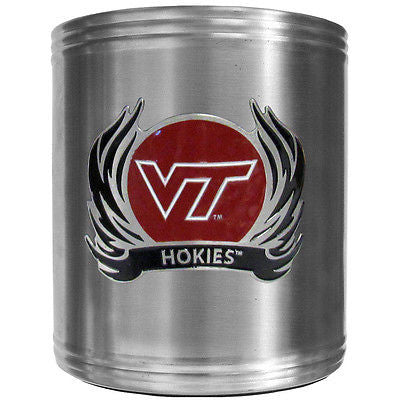 Virginia Tech Hokies Insulated Stainless Steel Can Cooler Coozie (Flames) (NCAA)