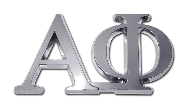 Greek Sorority Alpha Phi Chrome Auto Emblem